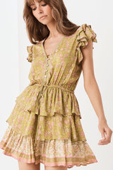 Dahlia ra ra playdress - bronze