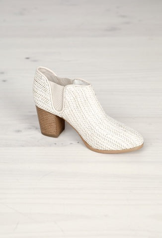 Gallivant woven ankle boot, natural