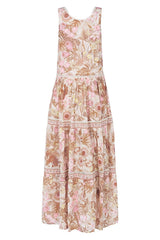 Jungle Maxi Sundress - Cream
