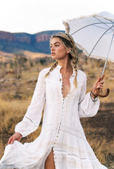 Hanging Rock Gown - white