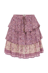 Dahlia ra-ra mini skirt - mulberry