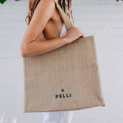 Think big large shopping bag in natural jute