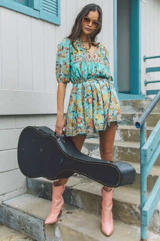 Hendrix Tunic Dress - Sky