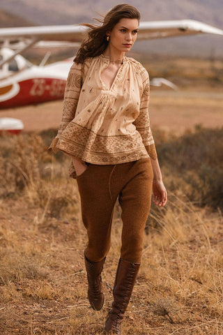 Kimba Knitted Pant - Tan