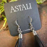 Mini Tassel Earrings - Black/Silver