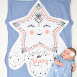 Skylar the Star Shaped Baby Blanket