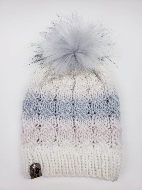 Woodland Walk Beanie - Snap On Pom