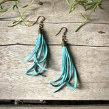 Mini Tassel Earrings - Turquoise