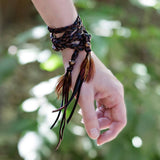 Leather Wrap Accessory - Black/Brown