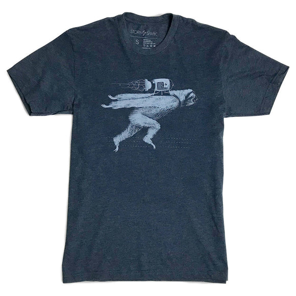 Rocket Sloth Graphic T-shirt