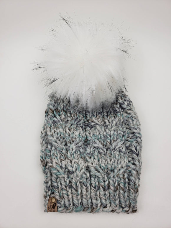 Reef Beanie - Seaglass (Snap On Pom)