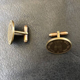 Heads & Tails Peep Show Token Cuff Links