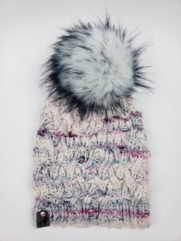 Pickett Beanie - Sarah Merino Wool (Snap On Pom)
