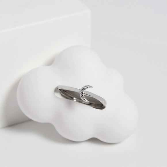 Dainty Moon Ring