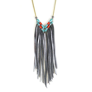 Ocean Beach Chevron Fringe Necklace