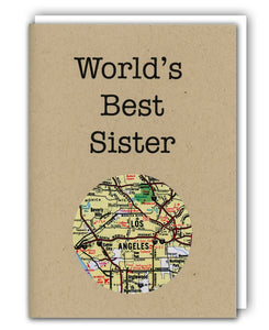 World's Best Sister Mini Map Card