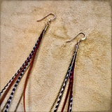 Mini Feather Earrings - Fawn & Grizzly