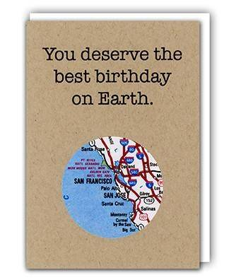 Birthday Mini Map Card