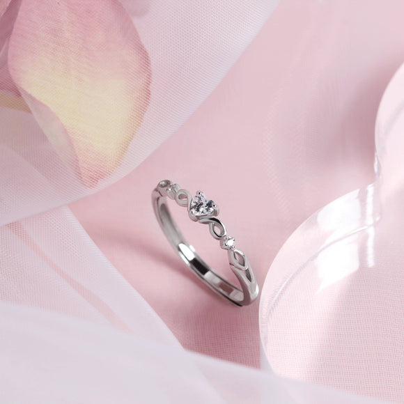 Princess Heart Shape Stone Ring