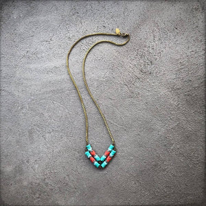 Ocean Beach Chevron Necklace