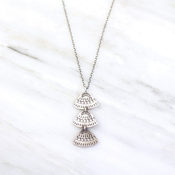 Asmi Trio Triangle Pendant Necklace