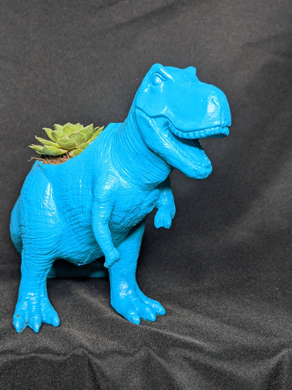 T Rex Hand Crafted Resin Planter