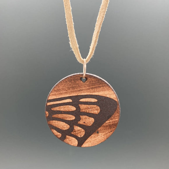Butterfly Wing Ceramic Pendant