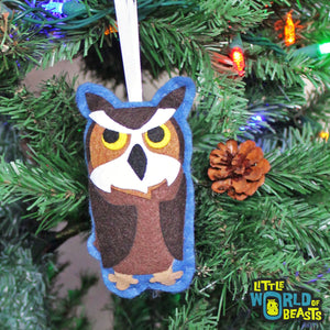Fredrickson the Great Horned Owl Ornament