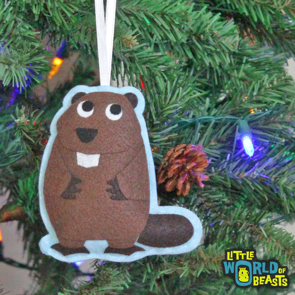 Liam the Beaver Ornament