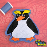 Cummerbund the Macaroni Penguin - Felt Patch