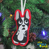 Lucy the Boston Terrier Ornament