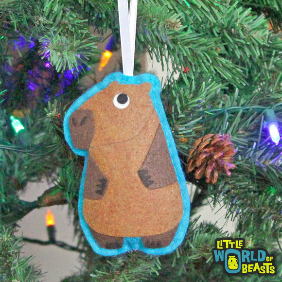 Margo the Capybara Ornament