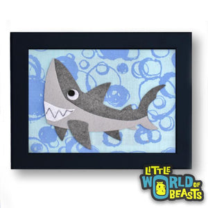Derek the Great White Shark Framed