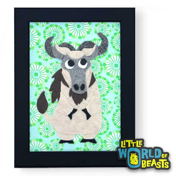 Quincy the Wildebeest Framed