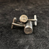 .357 Bullet Cuff Links - Antique Silver
