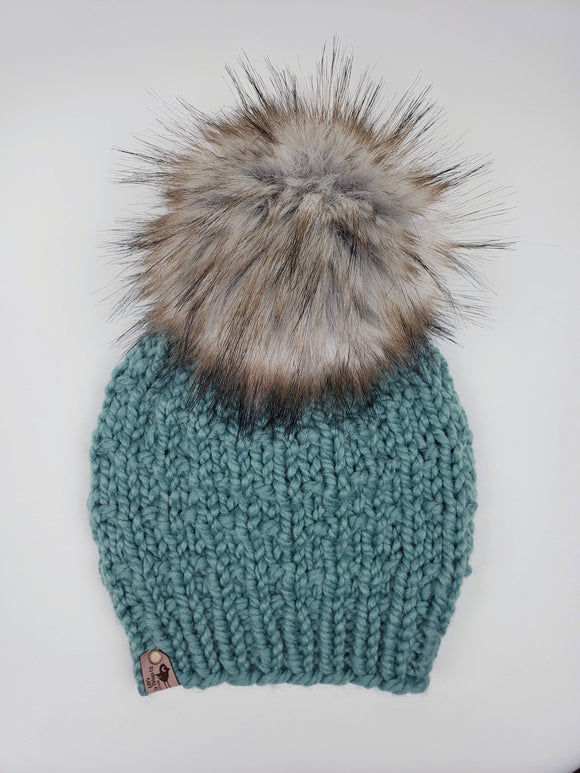 Sophie Beanie - Succulent (Snap On Pom)