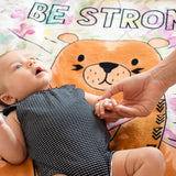 Be Strong Plush Baby Blanket