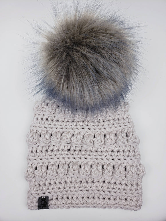 Toboggan Beanie - Snap On Pom (Multiple Color Options)