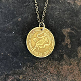 Virgo Sign Necklace - Zodiac Peep Show Token