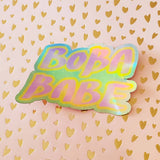 Boba Babe Holographic Sticker