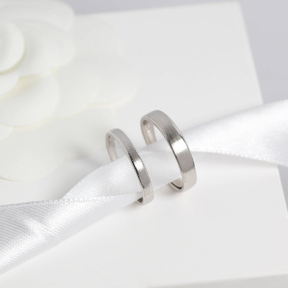 Simple Satin Finish Wedding Band