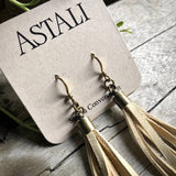 Mini Tassel Earrings - Cream