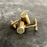 9mm Bullet Cuff Links - Antique Brass