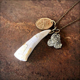 Buffalo Tooth & Sacajawea Coin Necklace