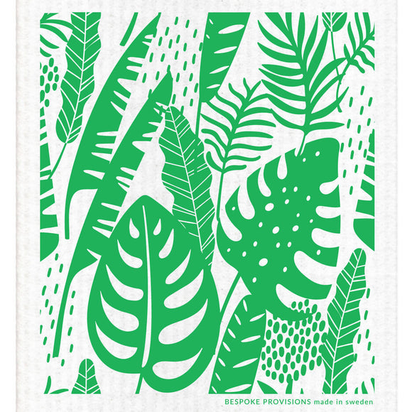 Tropical Leaves Swedish Dishcloth