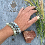 Bracelets for Anxiety and Depression - Labradorite, Prehnite and Amazonite Trio