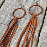 Hoop Tassel Earrings - Rust