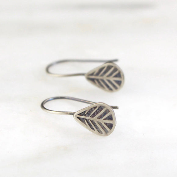 Tribal Leaf Lobe Hugger Earrings