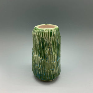 Green Carved Vase