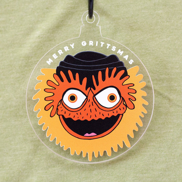 Gritty Christmas tree ornament